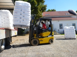 We have granular plastic delivered a few times a year.